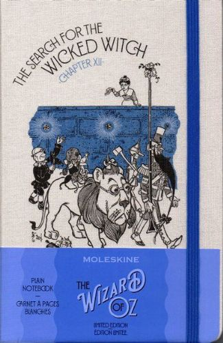 Moleskine Limited Edition Wizard Of Oz Large Plain Notebook: Wicked Witch Blue
